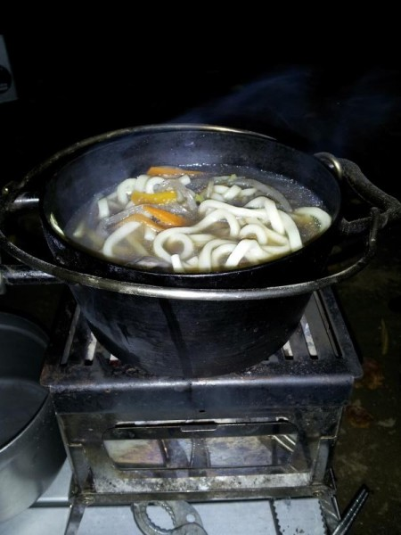 芋煮の〆はうどん
