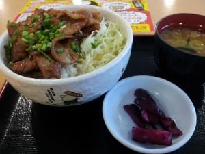 【群馬県昭和村】 赤城高原SA 「二代目ブー次郎丼」