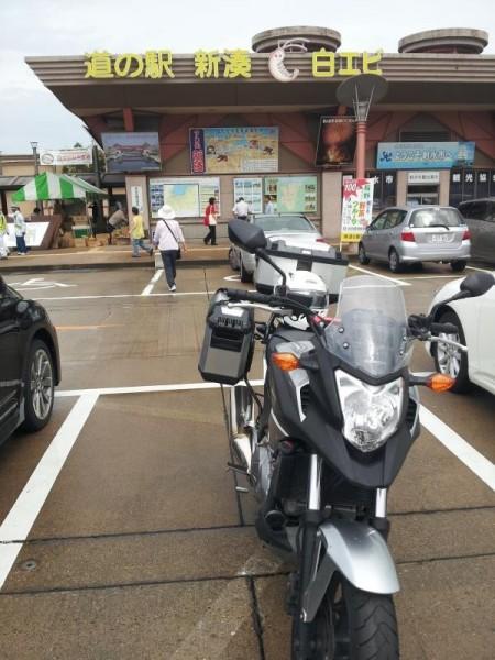 富山県射水市 道の駅「新湊」にて