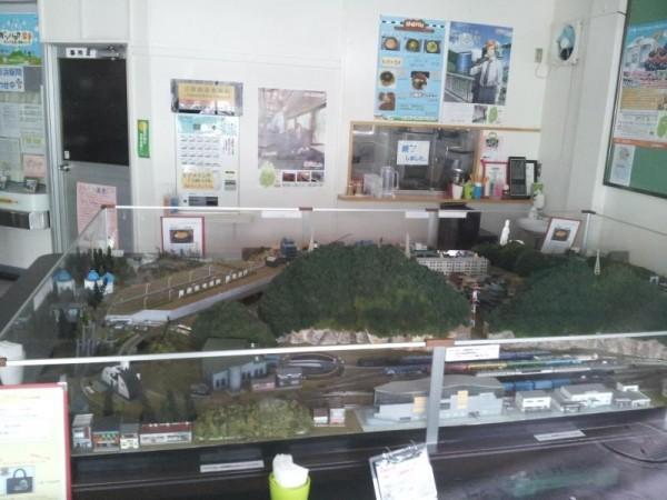 南リアス線の釜石駅のジオラマ