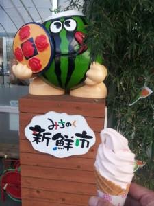 道の駅「尾花沢」にて