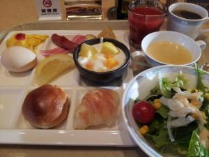 出張中の朝飯