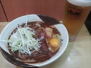 【愛知県名古屋市】 新幹線14番線ホーム 「味噌きしめん」