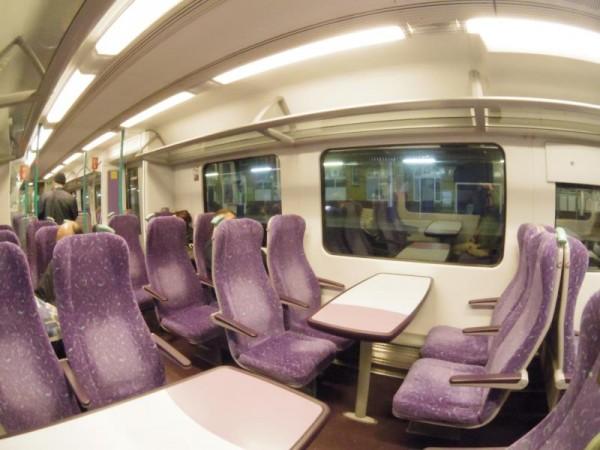 イギリスの鉄道車内