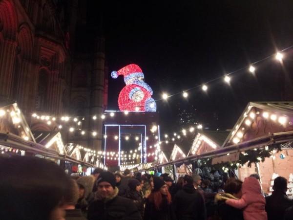 マンチェスター クリスマスマーケット 「サンタクロース」