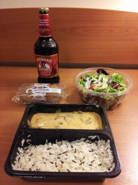 晩ご飯はビーフストロガノフ