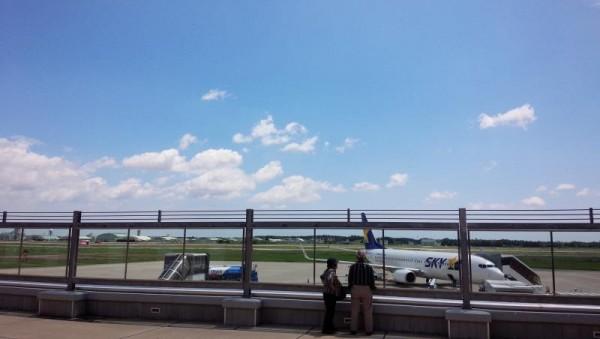 晴天の茨城空港