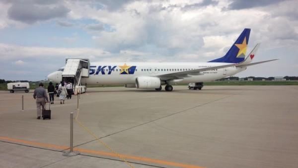 茨城空港のスカイマークは歩いて搭乗
