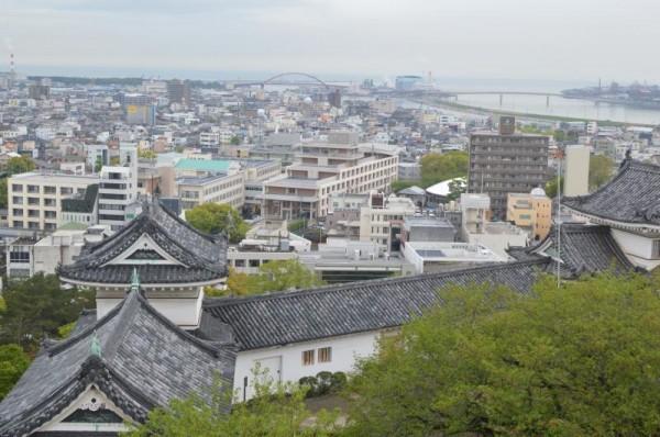和歌山城天守閣からの眺め