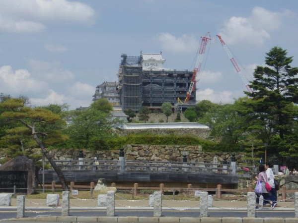 頭を出し始めた姫路城
