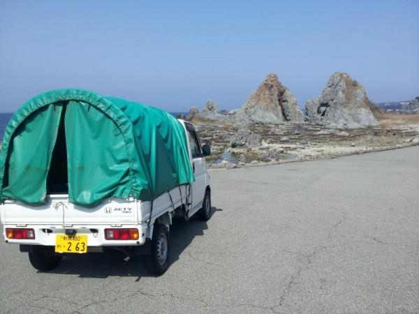 佐渡島 七浦海岸(軽トラ編)