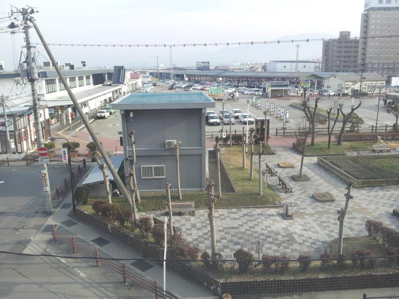 【福島県会津若松市】 フジグランドホテルからの会津若松駅ロータリー