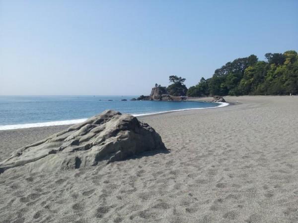 典型的な桂浜のイメージ