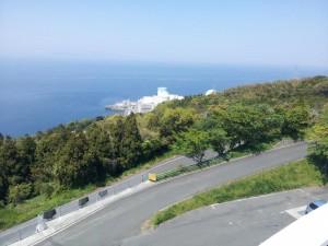 【愛媛県伊方町】 道の駅 伊方きらら館 展望台から見える伊方原子力発電所
