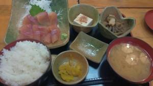 【福島県川内村】 いわなの郷 「岩魚刺身定食」