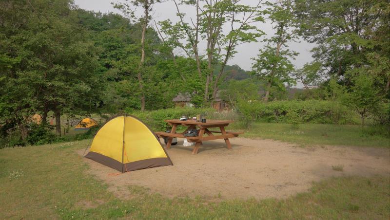 水の森公園キャンプ場にて