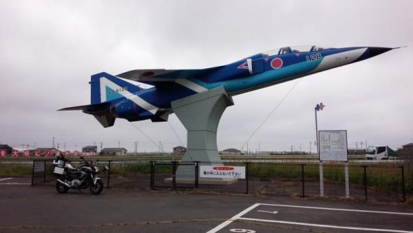 松島基地近く T-2練習機