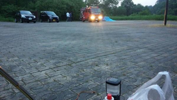 地元消防団訓練開始