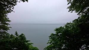 ガスっていてあまり景色の良くない支笏湖