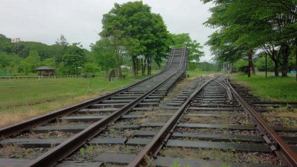 旧富内駅 銀河鉄道999の線路