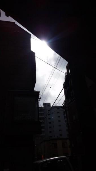 たまに太陽が顔を出す札幌