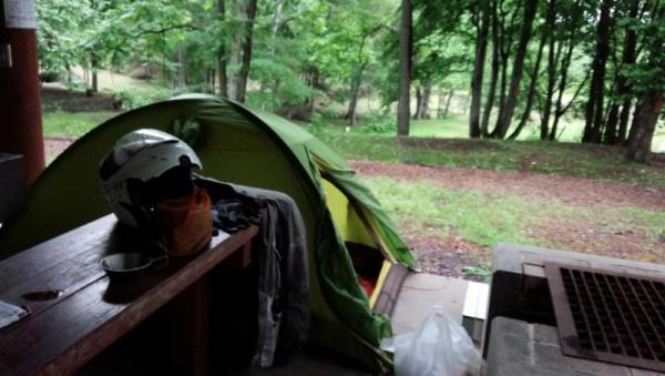 名寄市 トムテ文化の森キャンプ場にて