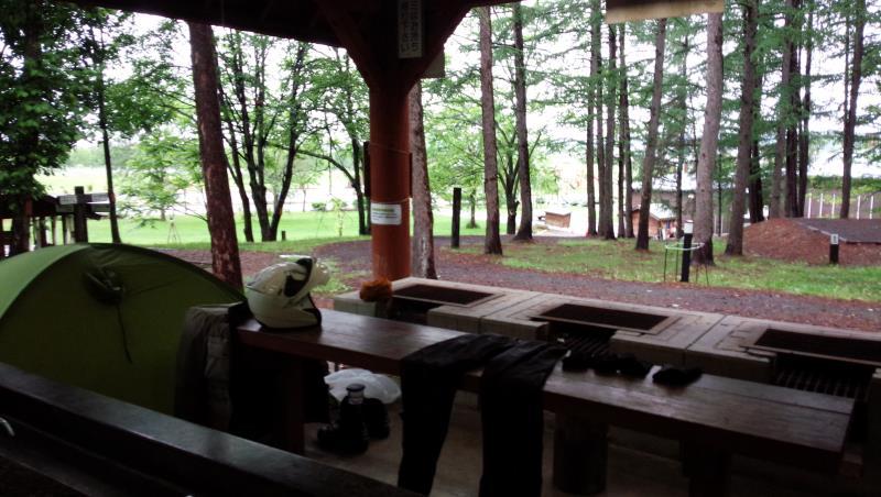 トムテ文化の森キャンプ場にて