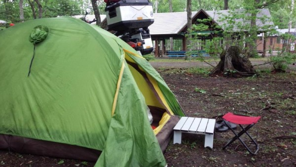 緑ヶ丘森林公園キャンプ場にて
