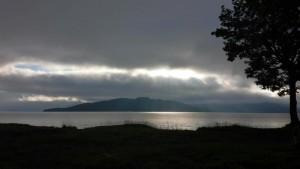 屈斜路湖の夕暮れ