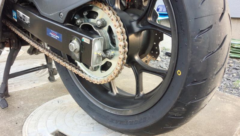 前後タイヤ、チェーン、前後スプロケット交換済み