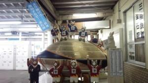 釜石駅ラグビーモニュメント