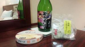 二次会はホテルの部屋で 「日本酒 釜石よいさ等々」