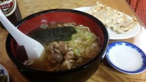 【山形県新庄市】 急行食堂 「鳥もつラーメン&餃子」