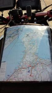 高速のPAで貰った能登半島の地図