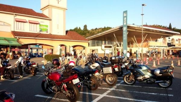 バイクが沢山 道の駅 針テラス