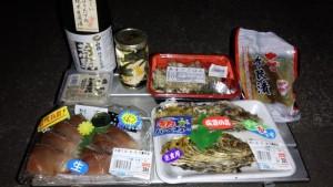 食材一覧(牡蠣、ハマチ、奈良漬けなど)