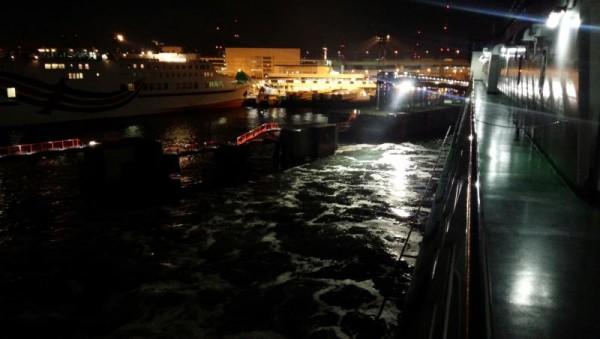 フェリーきたきゅうしゅうⅡ 大阪南港を出港