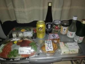 「道の駅 おかち」にて車中泊&プチ宴会