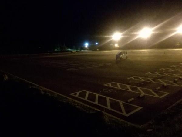 夜の道の駅 七ヶ宿
