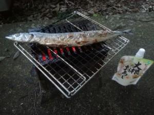 サンマの炭焼き完成