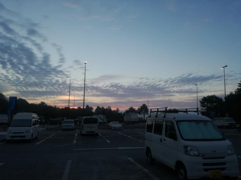 「道の駅 すばしり」の朝