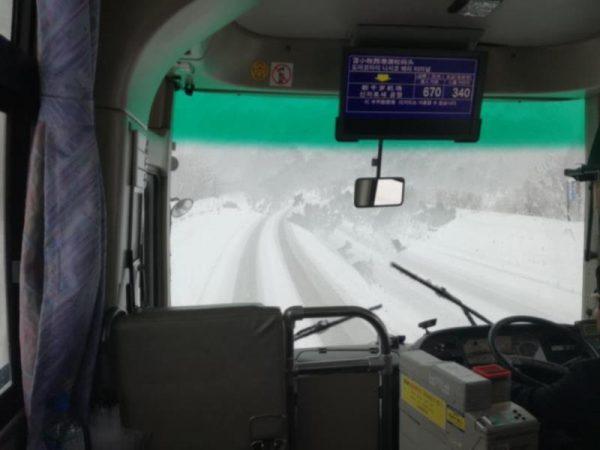 新千歳空港行き路線バス車窓