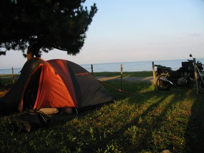 琵琶湖畔のキャンプ場 滋賀『神明』