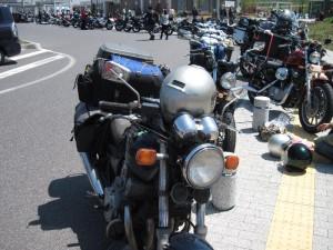 【土山SA】で溢れるバイク