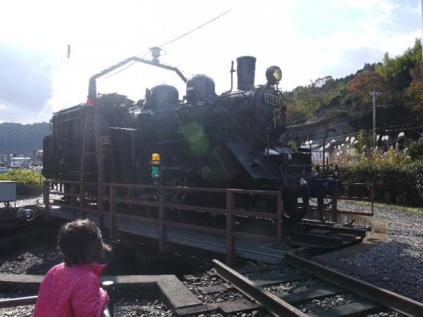 「真岡鐵道 茂木駅 転車台を廻るSL」 (G1 M.ZUIKO DIGITAL 14-42mm F3.5-5.6)