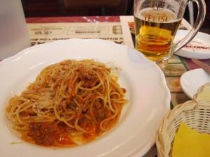 【恵比寿ガーデンプレイス】 メルカート・デラ・パスタ  「ボロネーゼ&エビスビール」