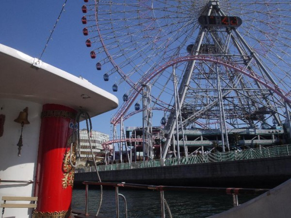「横浜 シーバスから眺める大観覧車」 (G1 M.ZUIKO DIGITAL 14-42mm F3.5-5.6)