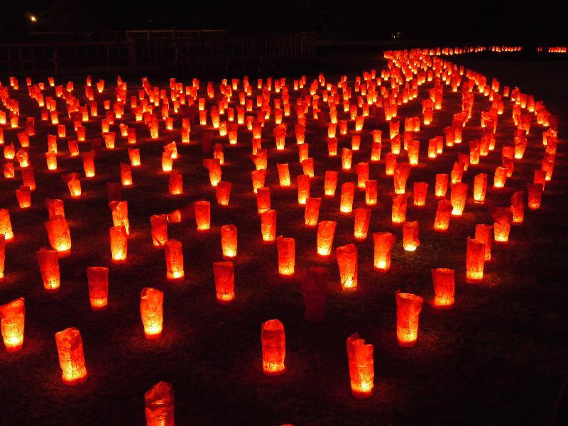 水戸偕楽園「夜・梅・祭 キャンドルディスプレイ」 (G1 M.ZUIKO DIGITAL 14-42mm F3.5-5.6)