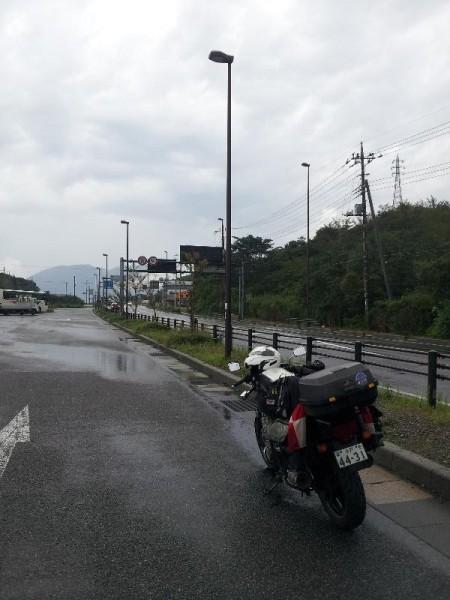 大雨に降られた箱根峠