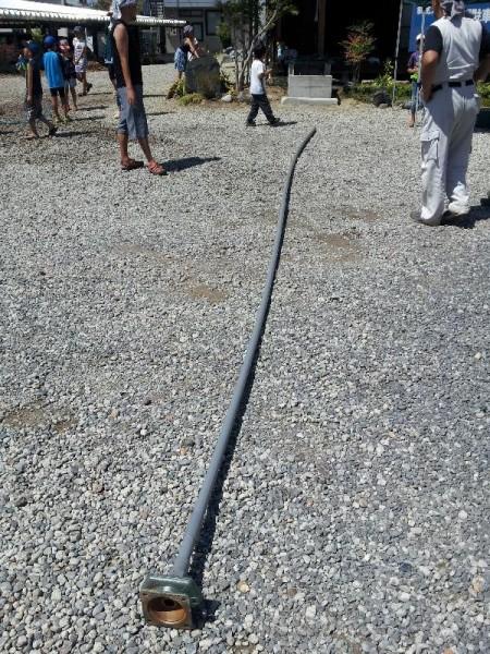 塩ビの井戸水を吸い上げる管